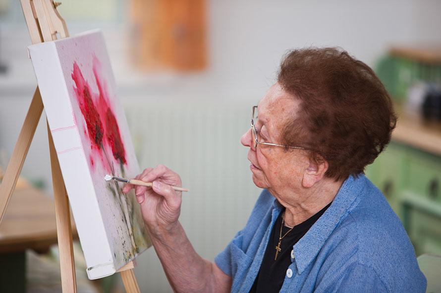 Atelier peinture maison de retraite nice Les jardins de Sainte-Marguerite